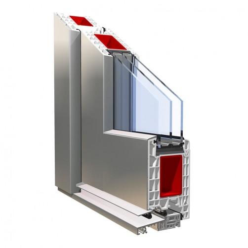 Doors PVC PRONORM 76 ALU CLIP